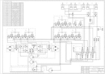 3.Чертеж схемы гидравлического погрузчика с указанием всех деталей (формат А1)
