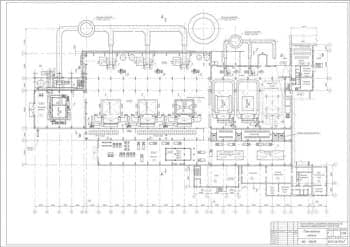 3.Чертеж плана главного корпуса в масштабе 1:200, с указанными помещениями