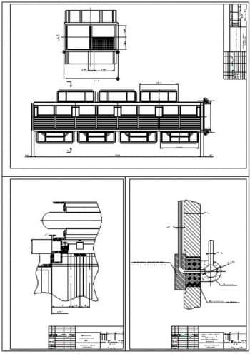 3.Чертежи общего вида воздухоподгревателя парового котла ТП-20/39, линзовый компенсатор ВП, поход труб через стену топки к нижнему испарительному контуру, с примечанием: фасонное огнеупорное изделие тесать по месту, с указанием всех размеров (формат А4)