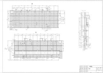 3.Чертеж общего вида котла-утилизатора, в разрезах Д, Г и Ж-Ж, с указанием всех размеров (формат А1)