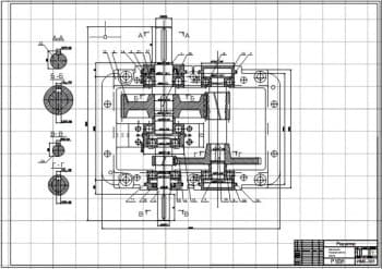 Сборочные чертежи механизма передвижения крана и выходного вала редуктора