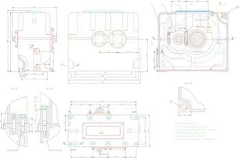 3.Чертеж СБ редуктора двухступенчатого соосного, с техническими характеристиками