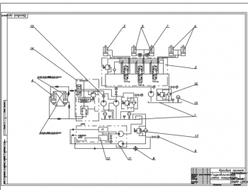 3.Плакат гидросхемы погрузчика А1