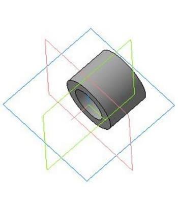 3.Деталировочный чертеж втулки для средней звездочки в 3D формате