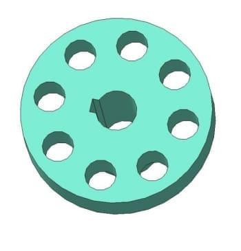 3.Чертеж детали гайка накидная муфты в 3D формате