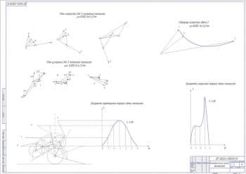 Кинематический анализ механизма: план скоростей для 3 положений механизма
