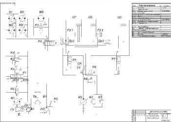 3.Схемы гидравлической буксировщика воздушных судов массой 4т