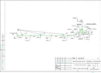 3.Лист схемы системы канализации (формат А3)