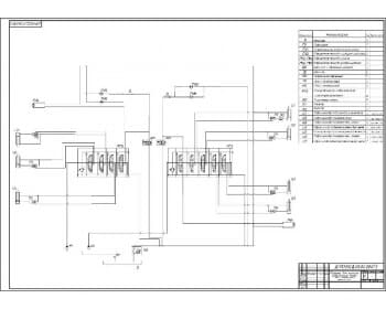 3.Разработка схемы гидравлической принципиальной машины для зимнего содержания дорог с представленным перечнем наименований элементов