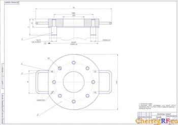 3.Общий чертеж калибра радиусом 26Н14 на 8 отверстий формат А1)