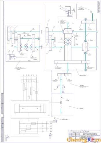 СБпривода подач простого вертикального суппорта (формат А1)