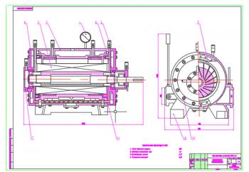 3.Сборочный чертеж пластинчатого компрессора А1