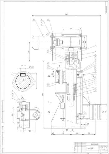 3.СБ стойки массой 430, в масштабе 1:2.5 (формат А1)