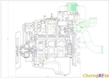 Чертежи динамического расчета двигателя внутреннего сгорания 6ЧН 12/12 (формат А1 )
