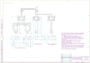 3.Лист схемы электрической принципиальной крана мостового электрического подвесного с условными обозначениями