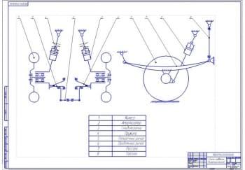 3.Кинематическая схема подвески (формат А1) с указание элементов