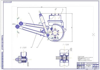 3.Сборочный чертеж задней подвески на пневмоэлементах автомобиля УАЗ-3163 (формат А1)