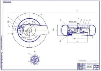 3.Тормозной механизм в сборе заднего колеса (формат А1)