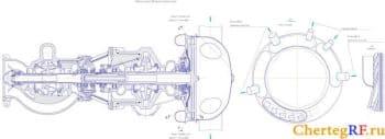Сборочный чертеж камеры сгорания ЖРД  (формат А2*4 )