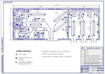 3.Чертеж плана эвакуации персонала из ремонтной мастерской (формат А1).