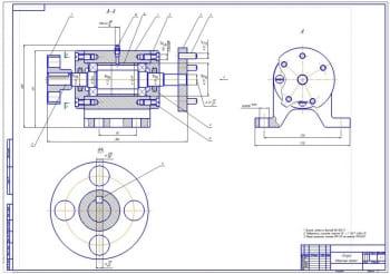 3.Сборочный чертеж опоры стенда (формат А1)