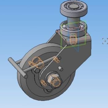 3.Колесо стенда в сборе в 3D-моделировании