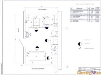 Чертеж слесарно – механического участка проекта АТП