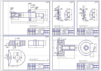 3.Деталировка: державка пуансона, крышка пневмоцилиндра нижняя, верхняя крышка пневмоцилиндра, пуансон, приспособление установочное (формат А1)