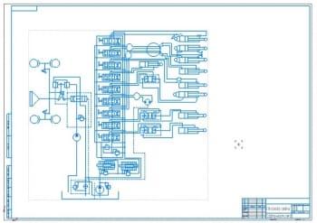 3.Гидравлическая схема автогрейдера А1