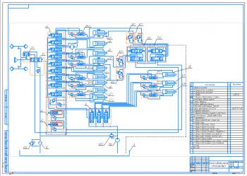 3.Схема гидравлическая автогрейдера А1