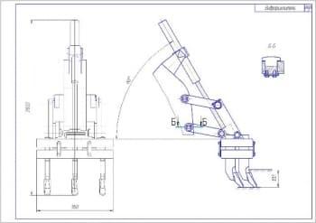 3.Сборочный чертеж вибрационного автогрейдерного рыхлителя А1