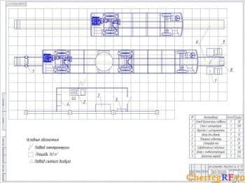 Чертеж генерального плана ПАТП№8 с техническими характеристиками
