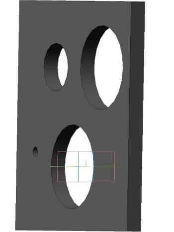 37.Чертеж детали пластины задней стенки модель 3d