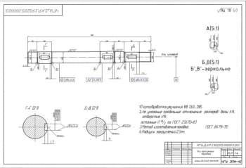 3.Рабочий чертеж детали – ось прессующего барабана А3