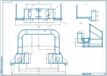 3.Разрезы сборочных узлов главной балки (А1)