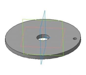 39.Деталировочный чертеж фланца круглого в 3D формате