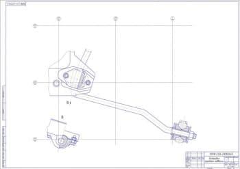 Сборочный чертеж передней подвески