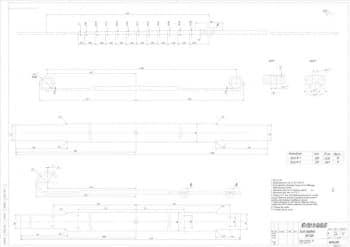 4.Чертеж детали лист передней рессоры в масштабе 1:2 (материал: Сталь 50ХГФА-3Б Г0СТ 14959-79)