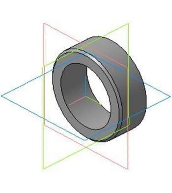4.Рабочий чертеж детали втулка на вал (крепление щетки) в 3D формате