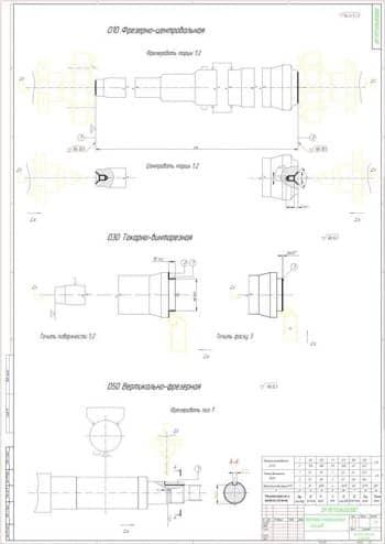 4.Операционные эскизы в масштабе 1:1