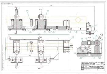 Чертеж поточной линии участка изготовления каркаса с подетальной разработкой приспособления для порезки