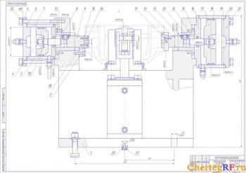 4.Чертеж сборочный фрезерного приспособления с габаритными размерами и позициями сборочных единицы (формат А1)