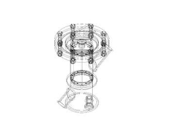 4.Схематичная модель фильтра грубой очистки в 3D формате