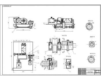 4.Сборочный чертеж тележки грузовой в масштабе 1:10, с указанием всех деталей и размеров  (формат А1)