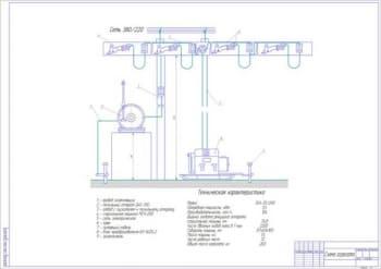 4.Чертеж общего вида электростригального агрегата (формат А1). Техническая характеристика