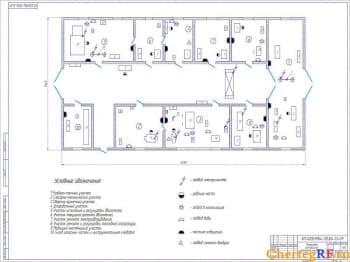 Чертеж планировки центральной ремонтной мастерской