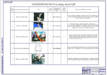 4.Технологическая карта на замену масла в двигателе ДВС (формат А1)