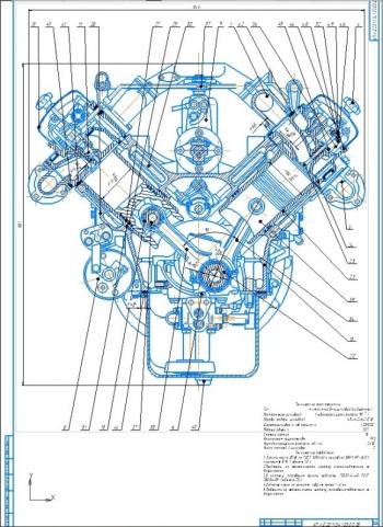 Конструкция и расчет дизельного 10-ти литрового двигателя