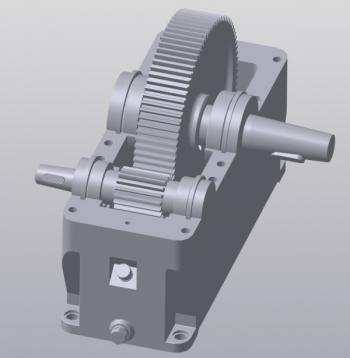 4.3D-модель зубчатого редуктора