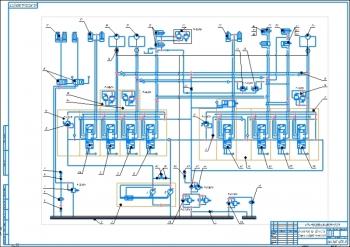 4.Схема гидравлическая экскаватора ЭО-4124 А1